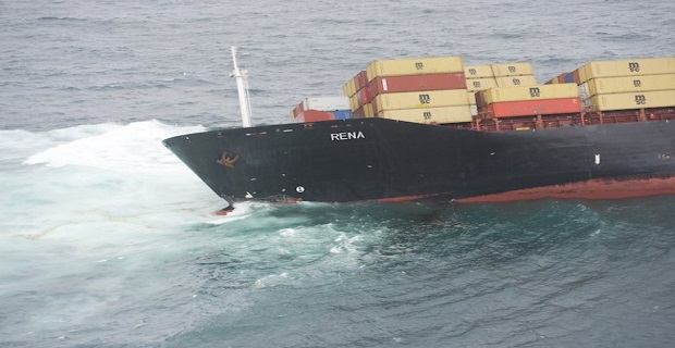 Απομακρύνθηκε από τον ύφαλο στη Νέα Ζηλανδία το containership Rena - e-Nautilia.gr   Το Ελληνικό Portal για την Ναυτιλία. Τελευταία νέα, άρθρα, Οπτικοακουστικό Υλικό