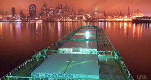 M/V Thessaloniki, at anchor Seatle USA…