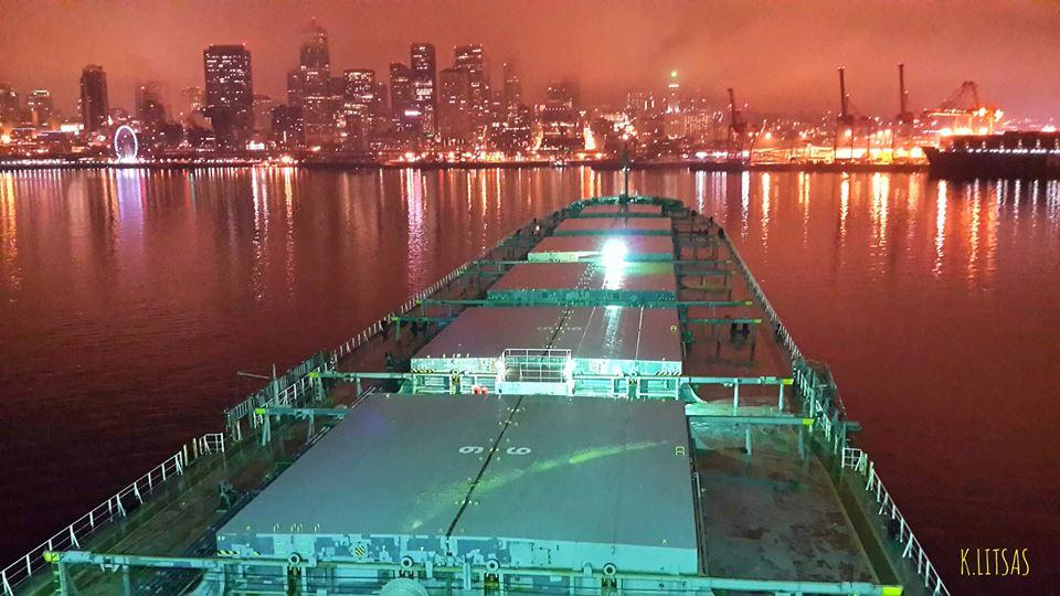 M/V Thessaloniki, at anchor Seatle USA… - e-Nautilia.gr | Το Ελληνικό Portal για την Ναυτιλία. Τελευταία νέα, άρθρα, Οπτικοακουστικό Υλικό