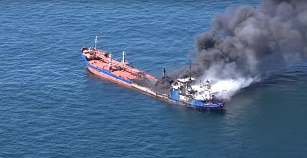 Πυρκαγιά σε ρωσικό δεξαμενόπλοιο στην Κασπία Θάλασσα – 1 νεκρός[βίντεο] - e-Nautilia.gr | Το Ελληνικό Portal για την Ναυτιλία. Τελευταία νέα, άρθρα, Οπτικοακουστικό Υλικό