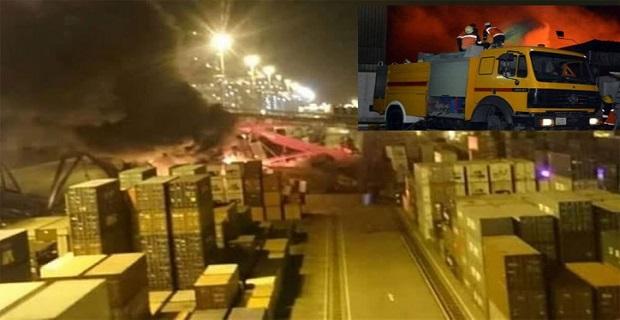 Πυρκαγιά από σύγκρουση γερανού με containership της COSCO [βίντεο] - e-Nautilia.gr | Το Ελληνικό Portal για την Ναυτιλία. Τελευταία νέα, άρθρα, Οπτικοακουστικό Υλικό