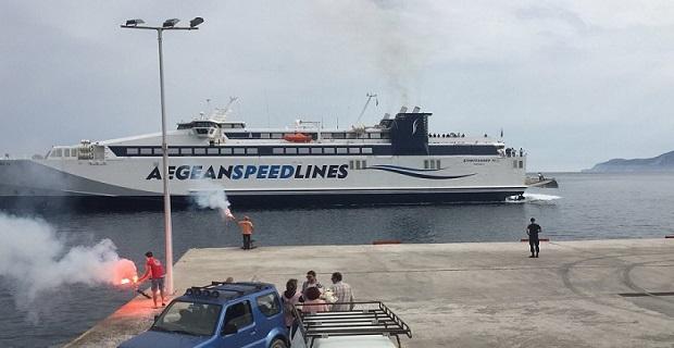 Η Κίμωλος υποδέχτηκε πανηγυρικά και για πρώτη φορά το Speedrunner IV![pics] - e-Nautilia.gr | Το Ελληνικό Portal για την Ναυτιλία. Τελευταία νέα, άρθρα, Οπτικοακουστικό Υλικό