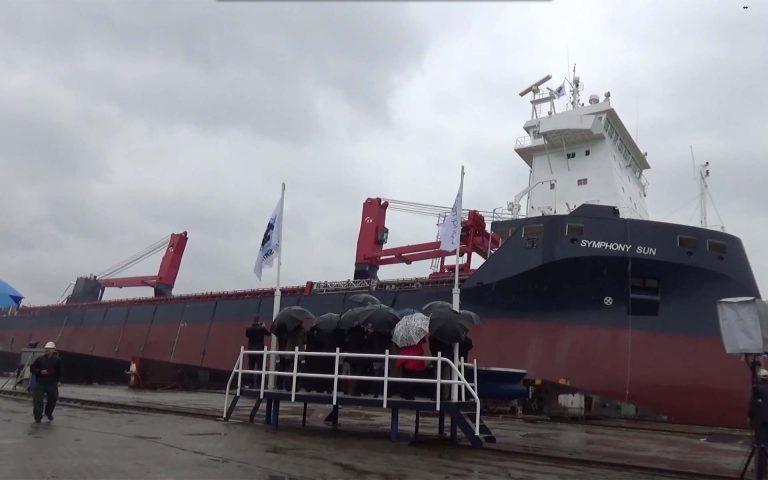 Στο νερό το πλοίο πολλαπλών χρήσεων Symphony Sun (Video) - e-Nautilia.gr | Το Ελληνικό Portal για την Ναυτιλία. Τελευταία νέα, άρθρα, Οπτικοακουστικό Υλικό