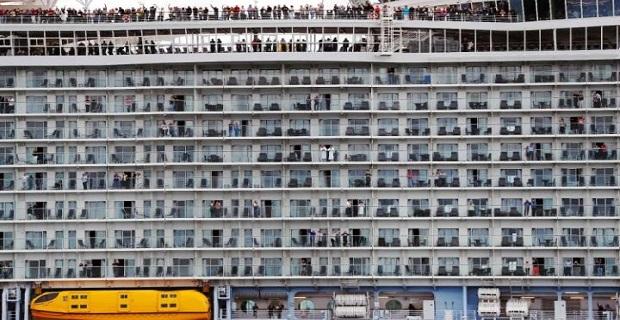 Το μεγαλύτερο κρουαζιερόπλοιο παγκοσμίως τη στιγμή που σαλπάρει από το Σαουθάμπτον στις 22 Μαΐου