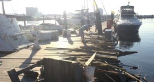 Πρόσκρουση πλοίου σε αποβάθρα στη Βαλτιμόρη