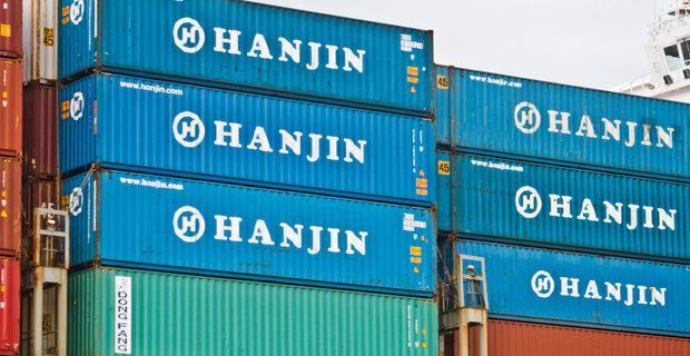Shipping Containers on Hanjin Venezia