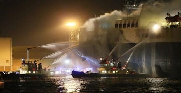 Πυρκαγιά σε πλοίο μεταφοράς αυτοκινήτων στην Αμβέρσα - e-Nautilia.gr | Το Ελληνικό Portal για την Ναυτιλία. Τελευταία νέα, άρθρα, Οπτικοακουστικό Υλικό
