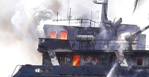 Πυρκαγιά καταστρέφει φορτηγό πλοίο στην Κολομβία - e-Nautilia.gr | Το Ελληνικό Portal για την Ναυτιλία. Τελευταία νέα, άρθρα, Οπτικοακουστικό Υλικό