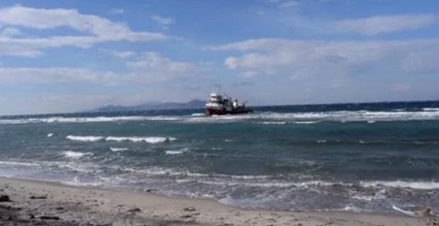 Τουρκικό πλοίο προσάραξε στην Αμόγλωσσα της Κω [Βίντεο] - e-Nautilia.gr | Το Ελληνικό Portal για την Ναυτιλία. Τελευταία νέα, άρθρα, Οπτικοακουστικό Υλικό