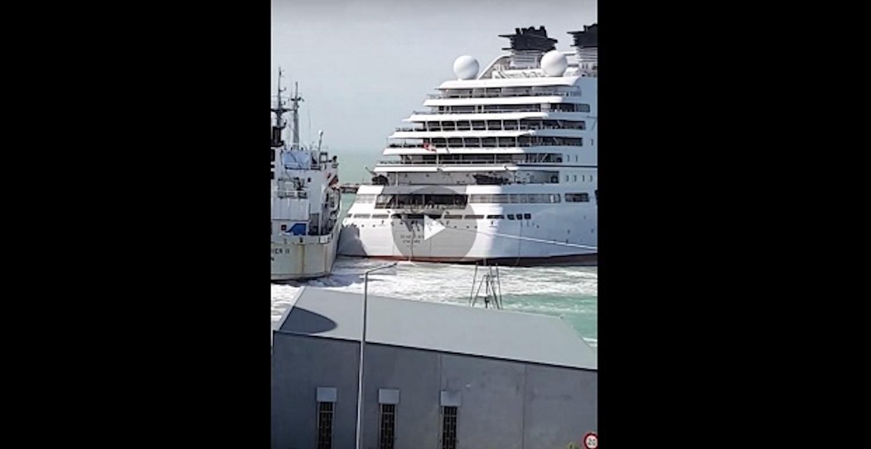 Πολυτελές και καινούριο κρουαζιερόπλοιο συγκρούστηκε στην προσπάθεια του να δέσει [βίντεο] - e-Nautilia.gr | Το Ελληνικό Portal για την Ναυτιλία. Τελευταία νέα, άρθρα, Οπτικοακουστικό Υλικό