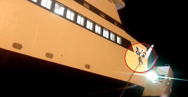 Μετανάστης αιωρείται κρεμασμένος από τον κάβο του πλοίου «Αριάδνη»[βίντεο] - e-Nautilia.gr | Το Ελληνικό Portal για την Ναυτιλία. Τελευταία νέα, άρθρα, Οπτικοακουστικό Υλικό