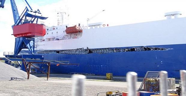 Ro-Ro έπεσε πάνω σε containership στο κανάλι του Κιέλου - e-Nautilia.gr | Το Ελληνικό Portal για την Ναυτιλία. Τελευταία νέα, άρθρα, Οπτικοακουστικό Υλικό