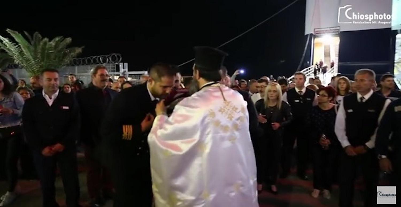 Η  συγκινητική συνάντηση επιταφίου Αγ. Γεωργίου με το πλοίο Αριάδνη (Video) - e-Nautilia.gr | Το Ελληνικό Portal για την Ναυτιλία. Τελευταία νέα, άρθρα, Οπτικοακουστικό Υλικό