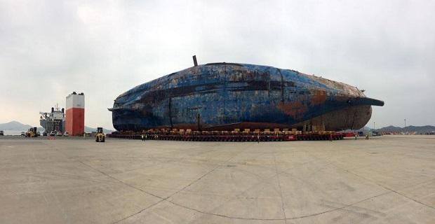 Ολοκληρώθηκε η μεταφορά του ναυαγίου του Sewol στη στεριά (photos) - e-Nautilia.gr | Το Ελληνικό Portal για την Ναυτιλία. Τελευταία νέα, άρθρα, Οπτικοακουστικό Υλικό