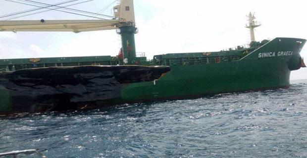 Ελληνικό πλοίο συγκρούστηκε με τάνκερ στη Μαλαισία [φωτο] - e-Nautilia.gr | Το Ελληνικό Portal για την Ναυτιλία. Τελευταία νέα, άρθρα, Οπτικοακουστικό Υλικό