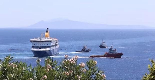 Βίντεο από την προσπάθεια αποκόλλησης του «Blue Star Patmos» - e-Nautilia.gr | Το Ελληνικό Portal για την Ναυτιλία. Τελευταία νέα, άρθρα, Οπτικοακουστικό Υλικό