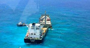 Πετρελαιοκηλίδες κατεγράφησαν γύρω από το προσαραγμένο ελληνικό πλοίο Kea Trader (photos)