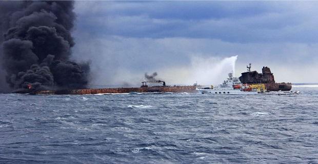 Αδύνατο να μετρηθεί η έκταση της διαρροής πετρελαίου του Sanchi - e-Nautilia.gr | Το Ελληνικό Portal για την Ναυτιλία. Τελευταία νέα, άρθρα, Οπτικοακουστικό Υλικό