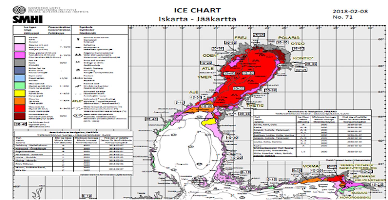 Λήψη χαρτών πάγου για τη Βαλτική Θάλασσα - e-Nautilia.gr | Το Ελληνικό Portal για την Ναυτιλία. Τελευταία νέα, άρθρα, Οπτικοακουστικό Υλικό