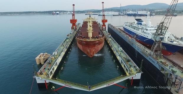 """Δεξαμενισμός του πρώτου πλοίου στη νέα πλωτή δεξαμενή """"ΠΕΙΡΑΙΑΣ ΙΙΙ"""" - e-Nautilia.gr   Το Ελληνικό Portal για την Ναυτιλία. Τελευταία νέα, άρθρα, Οπτικοακουστικό Υλικό"""