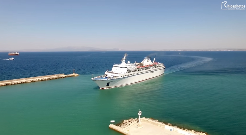 Πρώτη άφιξη Κρουαζιεροπλοίου στη Χίο για τη φετινή τουριστική περίοδο (Video) - e-Nautilia.gr | Το Ελληνικό Portal για την Ναυτιλία. Τελευταία νέα, άρθρα, Οπτικοακουστικό Υλικό