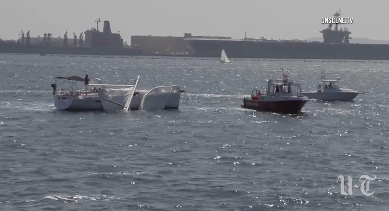 Ιστιοφόρο χάνει το ιστίο του μετά από χτύπημα στο πολεμικό πλοίο USS Midway (Video) - e-Nautilia.gr | Το Ελληνικό Portal για την Ναυτιλία. Τελευταία νέα, άρθρα, Οπτικοακουστικό Υλικό