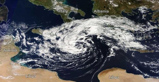 Ο Μεσογειακός κυκλώνας φαίνεται ότι θα έχει μέγεθος συγκρίσιμο με αυτό της Πελοποννήσου - e-Nautilia.gr | Το Ελληνικό Portal για την Ναυτιλία. Τελευταία νέα, άρθρα, Οπτικοακουστικό Υλικό