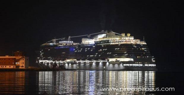Sky Princess : Παρθενική άφιξη στο λιμάνι του Πειραιά για το νεότερο κρουαζιερόπλοιο στον κόσμο [βίντεο]