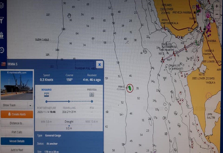 Αποκολλήθηκε το πλοίο IRMA S που είχε προσαράξει στην Πρέβεζα - e-Nautilia.gr | Το Ελληνικό Portal για την Ναυτιλία. Τελευταία νέα, άρθρα, Οπτικοακουστικό Υλικό