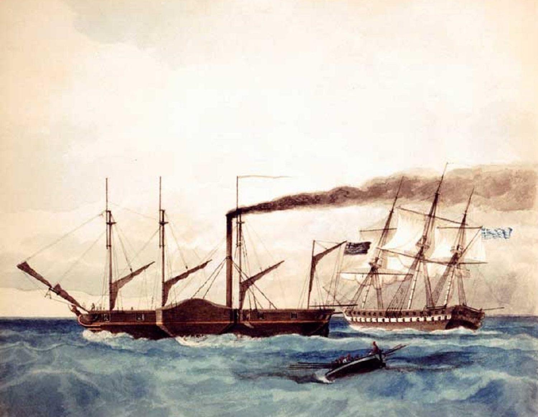 Επανάσταση 1821: Το «Καρτερία» ήταν το πρώτο ατμοκίνητο πολεμικό πλοίο στην ιστορία - e-Nautilia.gr | Το Ελληνικό Portal για την Ναυτιλία. Τελευταία νέα, άρθρα, Οπτικοακουστικό Υλικό