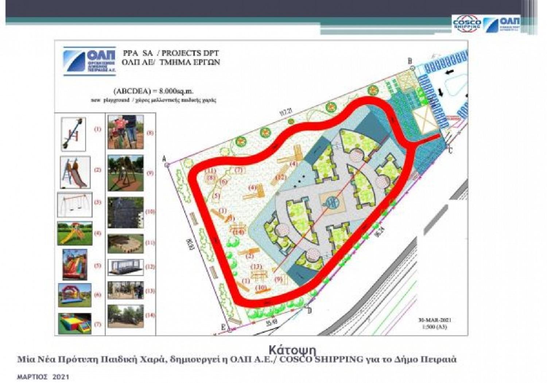 ΟΛΠ: Δημιουργεί σύγχρονο πάρκο με μια πρότυπη παιδική χαρά και ποδηλατόδρομο για τον Δήμο Πειραιά - e-Nautilia.gr | Το Ελληνικό Portal για την Ναυτιλία. Τελευταία νέα, άρθρα, Οπτικοακουστικό Υλικό