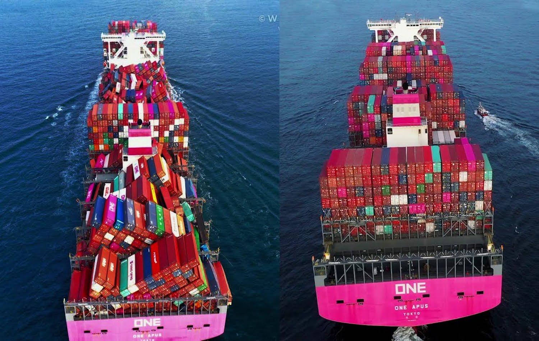 Το ONE Apus ξεφόρτωσε στο Long Beach μετά την περσινή επική απώλεια φορτίου - e-Nautilia.gr | Το Ελληνικό Portal για την Ναυτιλία. Τελευταία νέα, άρθρα, Οπτικοακουστικό Υλικό
