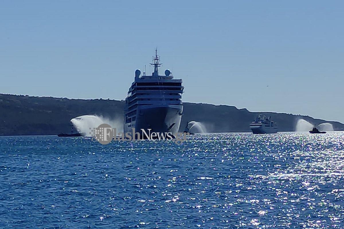 Με αψίδες νερού υποδέχτηκαν τα Χανιά κρουαζιερόπλοια (video) - e-Nautilia.gr | Το Ελληνικό Portal για την Ναυτιλία. Τελευταία νέα, άρθρα, Οπτικοακουστικό Υλικό
