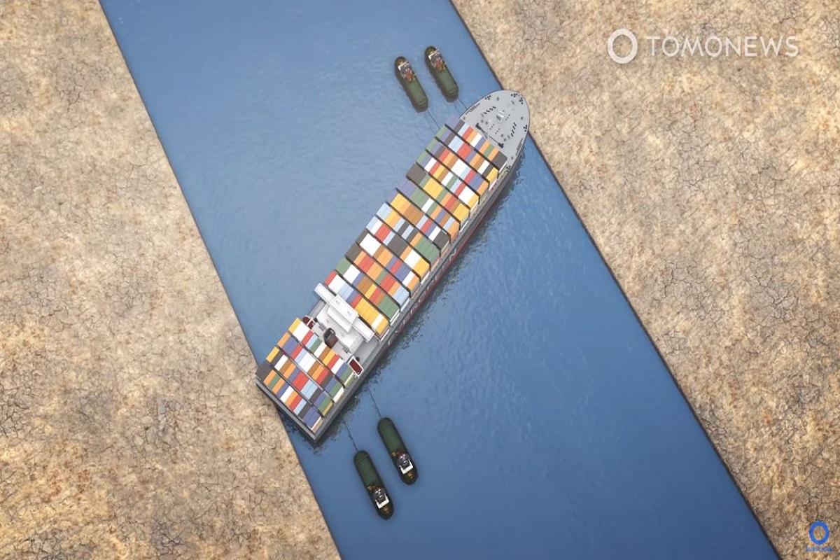 Πως αποκολλήθηκε το γιγαντιαίο πλοίο από το κανάλι του Σουέζ (video) - e-Nautilia.gr   Το Ελληνικό Portal για την Ναυτιλία. Τελευταία νέα, άρθρα, Οπτικοακουστικό Υλικό