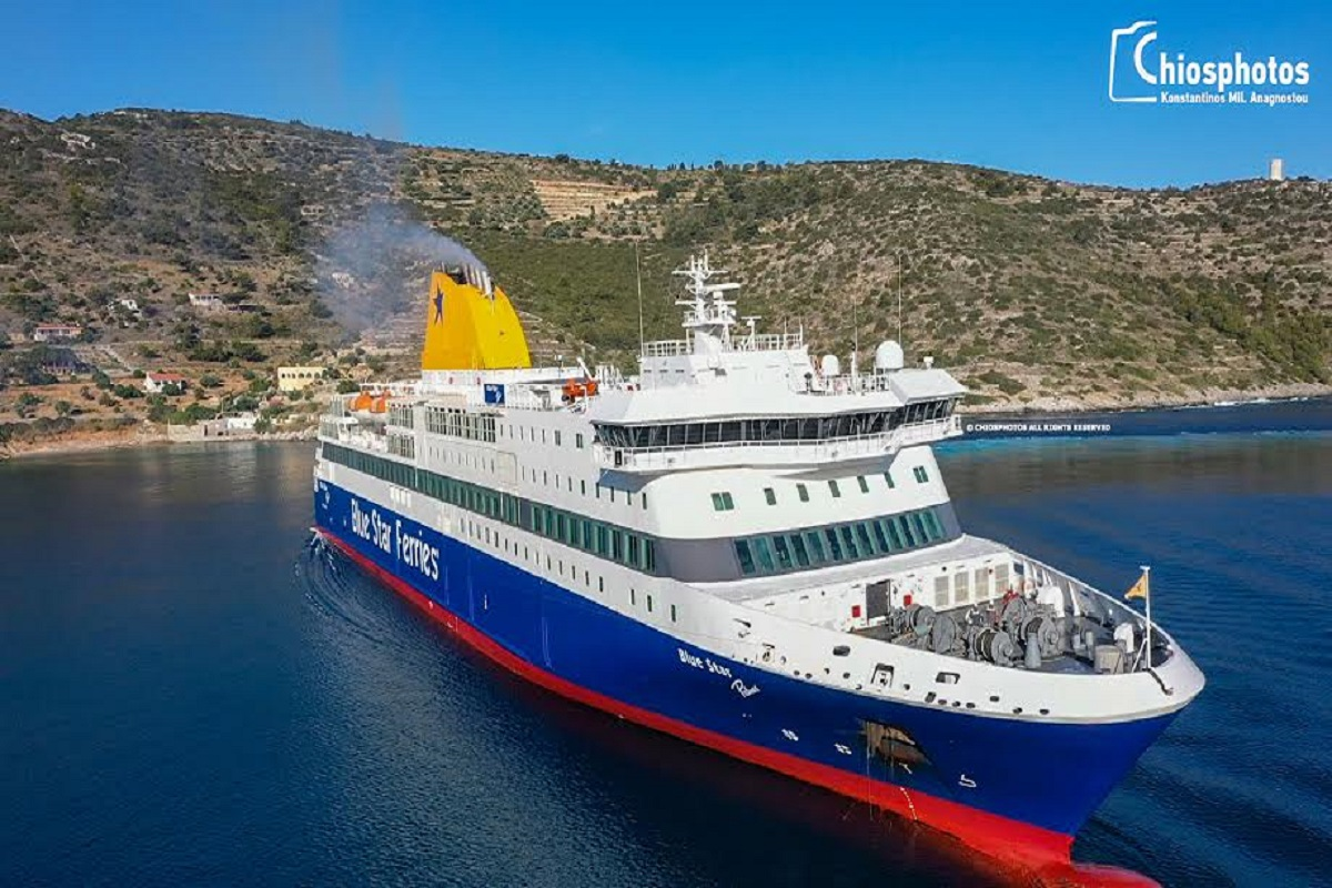 Δεξιοτεχνική μανούβρα του Blue Star Patmos στο λιμάνι Μεστών (video& photos) - e-Nautilia.gr | Το Ελληνικό Portal για την Ναυτιλία. Τελευταία νέα, άρθρα, Οπτικοακουστικό Υλικό