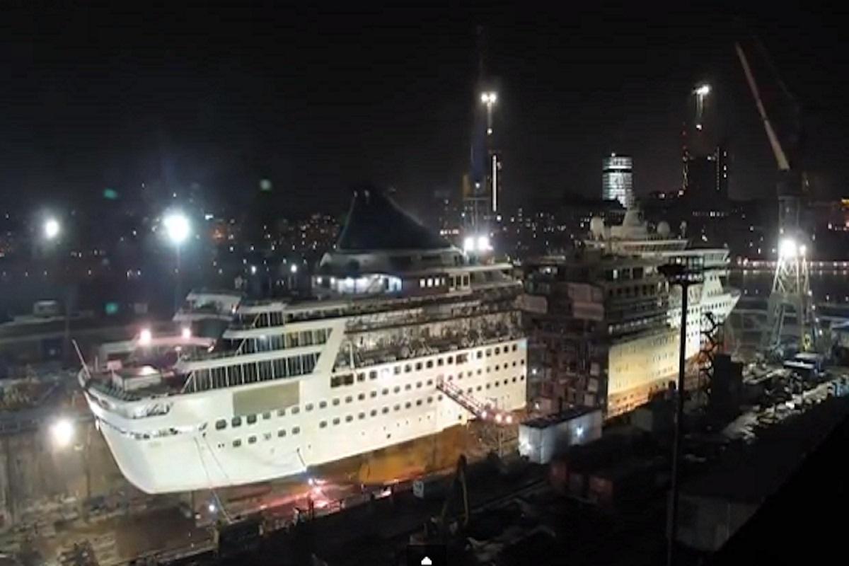 Δείτε σε timelapse video την μετασκευή και επιμήκυνση κρουαζιερόπλοιου! (Video) - e-Nautilia.gr | Το Ελληνικό Portal για την Ναυτιλία. Τελευταία νέα, άρθρα, Οπτικοακουστικό Υλικό