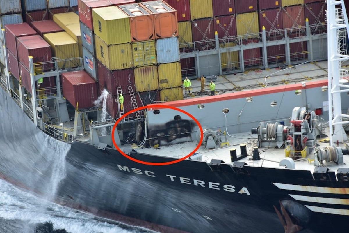 Πυρκαγιά ξέσπασε στο μέγα πλοίο μεταφοράς εμπορευματοκιβωτίων MSC TERESA - e-Nautilia.gr   Το Ελληνικό Portal για την Ναυτιλία. Τελευταία νέα, άρθρα, Οπτικοακουστικό Υλικό