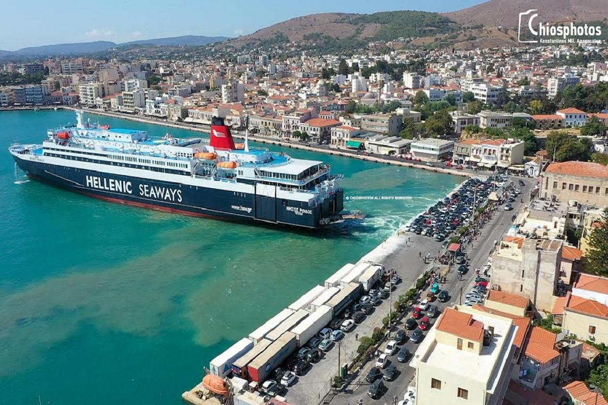 Μαζική έξοδος τουριστών από τη Χίο με το Νήσος Ρόδος (video & photo) - e-Nautilia.gr   Το Ελληνικό Portal για την Ναυτιλία. Τελευταία νέα, άρθρα, Οπτικοακουστικό Υλικό