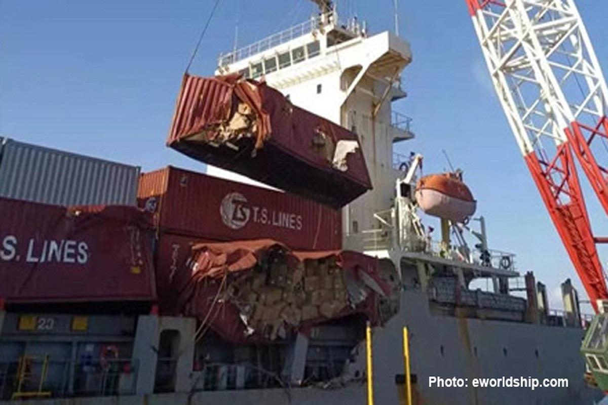 Πλοίο μεταφοράς κοντέινερ έπεσε σε τυφώνα – Υπέστη αρκετές ζημιές στα εμπορευματοκιβώτια - e-Nautilia.gr   Το Ελληνικό Portal για την Ναυτιλία. Τελευταία νέα, άρθρα, Οπτικοακουστικό Υλικό